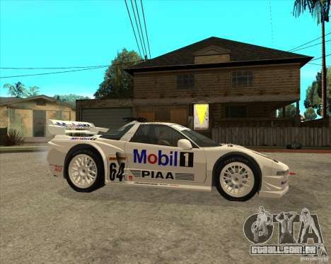 2001 Honda Mobil 1 NSX JGTC para GTA San Andreas vista direita