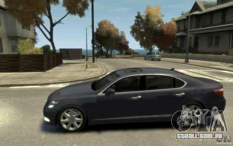 Lexus LS 600h L v1.1 para GTA 4 esquerda vista