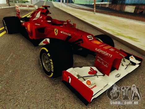 Ferrari F2012 para GTA San Andreas vista traseira