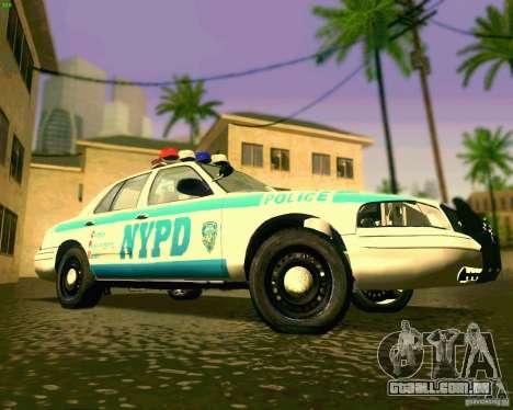 Ford Crown Victoria 2003 NYPD police para GTA San Andreas vista interior