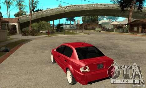 GTA IV Premier para GTA San Andreas traseira esquerda vista