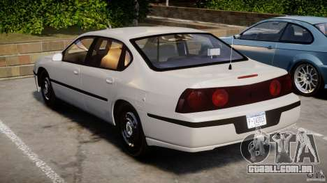Chevrolet Impala Unmarked Police 2003 v1.0 [ELS] para GTA 4 vista lateral
