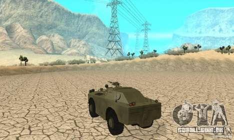 Pele BRDM-1 1 para GTA San Andreas vista direita