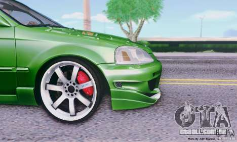 Honda Civic Si Sporty para GTA San Andreas traseira esquerda vista