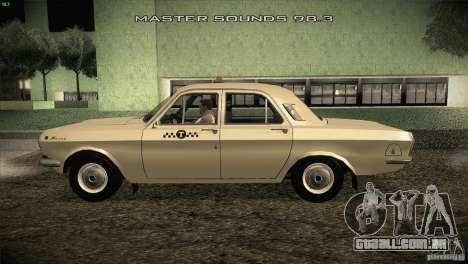 GAZ-24 Volga táxi 01 para GTA San Andreas esquerda vista