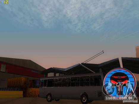 Trólebus LAZ-52522 para GTA San Andreas esquerda vista