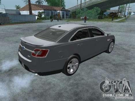 Ford Taurus para GTA San Andreas traseira esquerda vista