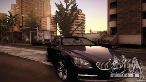 BMW 640i Coupe para GTA San Andreas vista superior