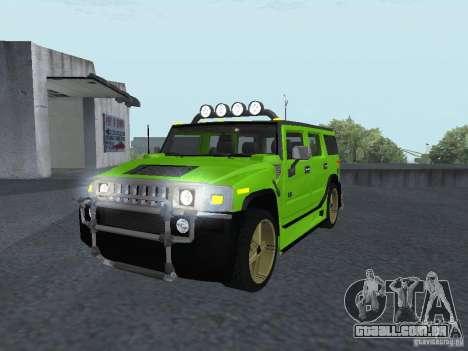 HUMMER H2 Tunable para GTA San Andreas traseira esquerda vista