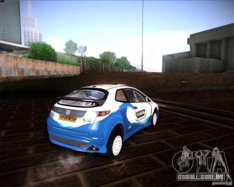 Honda Civic Type-R (Rally team) para GTA San Andreas traseira esquerda vista