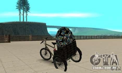 Manual Rickshaw v2 Skin3 para GTA San Andreas traseira esquerda vista