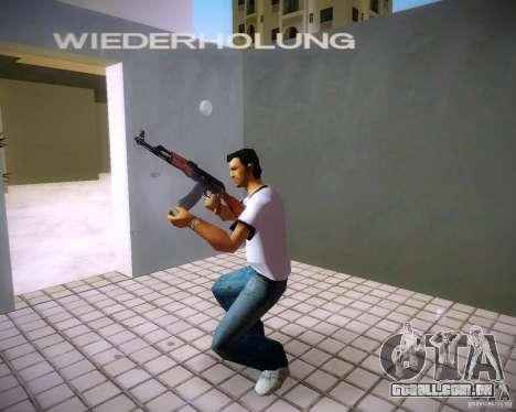 AK-47 para GTA Vice City por diante tela