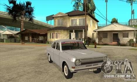 Volga GAZ 24 para GTA San Andreas vista traseira