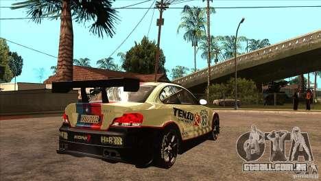BMW 135i Coupe GP Edition Skin 1 para GTA San Andreas vista direita