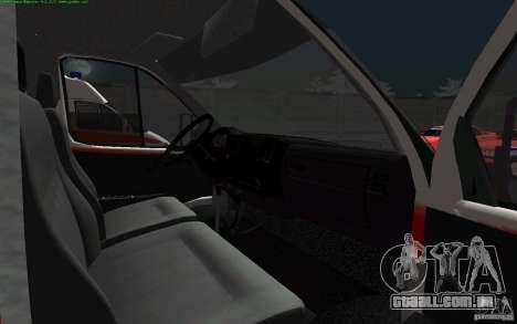 Ambulância de gazela 22172 para GTA San Andreas vista traseira