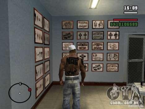 Novas tatuagens para GTA San Andreas sexta tela