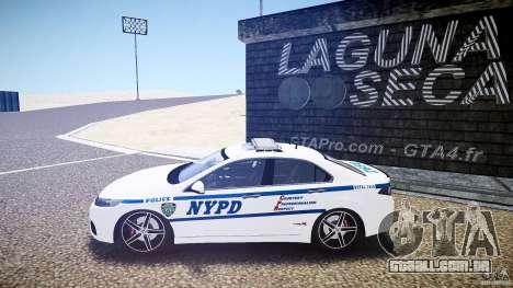 Honda Accord Type R NYPD (City Patrol 7605) ELS para GTA 4 esquerda vista