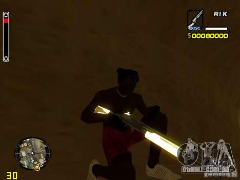 White and Black weapon pack para GTA San Andreas por diante tela