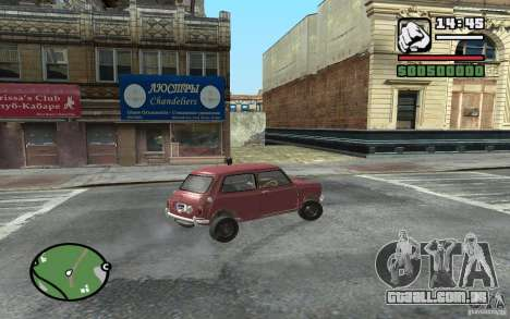 Mini Cooper S para GTA San Andreas vista direita