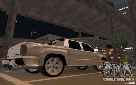 Chevrolet Suburban para GTA San Andreas vista traseira