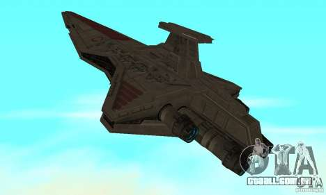 Republic Attack Cruiser Venator class v3 para GTA San Andreas