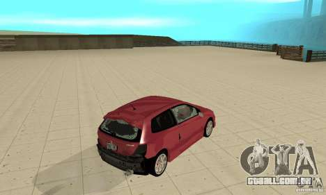 Honda Civic Type R - Stock + Airbags para GTA San Andreas vista superior