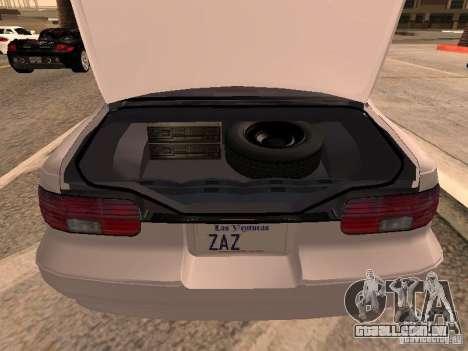 Chevrolet Impala SS 1995 para GTA San Andreas vista traseira