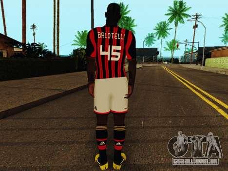 Mario Balotelli v1 para GTA San Andreas por diante tela