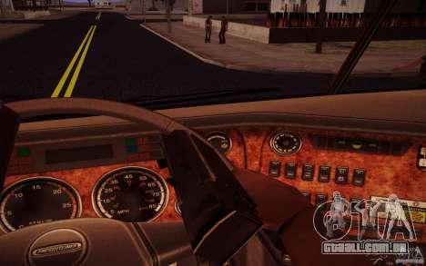 Freightliner Argosy para GTA San Andreas vista interior