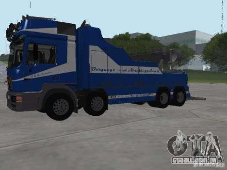 HOMEM F2000 (com roteiro de CLEO) para GTA San Andreas vista superior