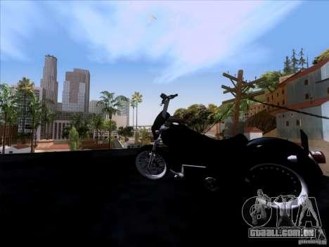 Harley Davidson FXD Super Glide para GTA San Andreas vista traseira