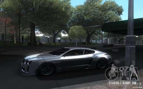 Bentley Continental Super Sport Tuning para GTA San Andreas vista interior