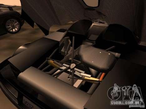 Koenigsegg CCXR Edition para GTA San Andreas vista traseira