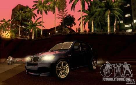 BMW X5M  2011 para vista lateral GTA San Andreas