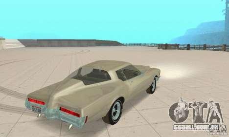 Buick Riviera 1972 Boattail para GTA San Andreas esquerda vista