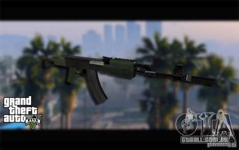AK-47 com um silenciador de GTA 5 (Final) para GTA San Andreas