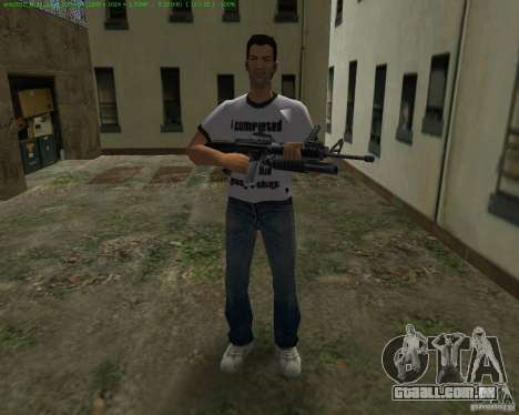 M-16 de Scarface para GTA Vice City por diante tela