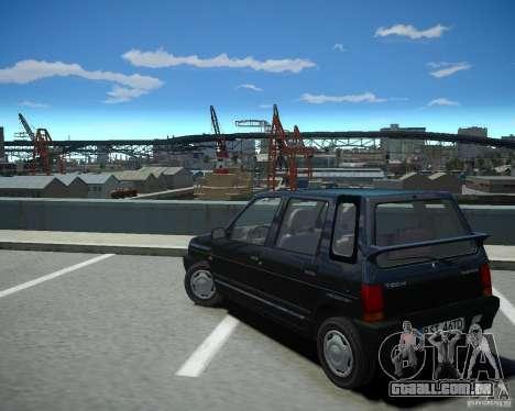 Daewoo Tico SX 1996 para GTA 4 traseira esquerda vista