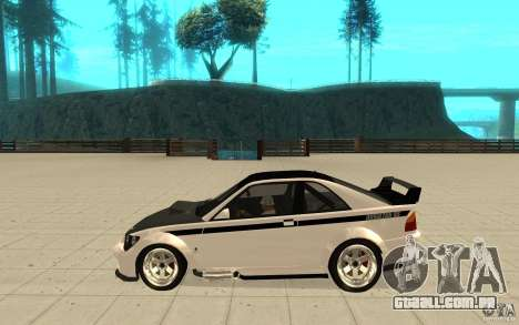 GTA IV Sultan RS FINAL para GTA San Andreas esquerda vista
