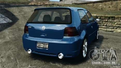 Volkswagen Golf 4 R32 2001 v1.0 para GTA 4 traseira esquerda vista