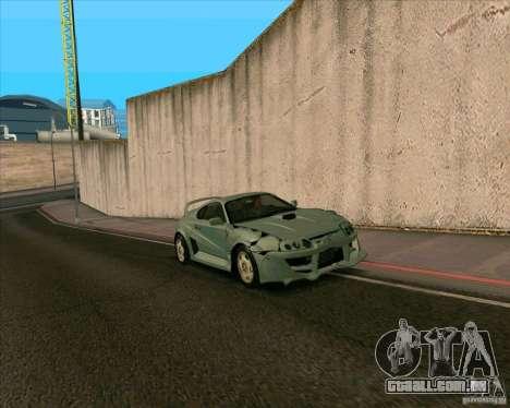Toyota Supra from MW para GTA San Andreas traseira esquerda vista