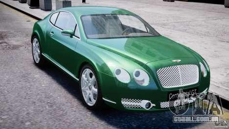 Bentley Continental GT para GTA 4 vista lateral