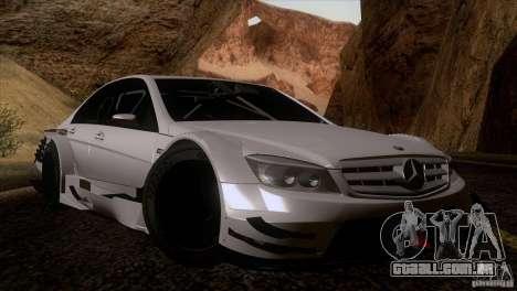 Mercedes Benz C-Class Touring 2008 para GTA San Andreas vista interior