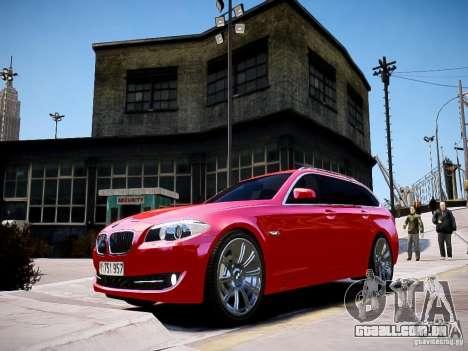 BMW 525i Touring para GTA 4 traseira esquerda vista