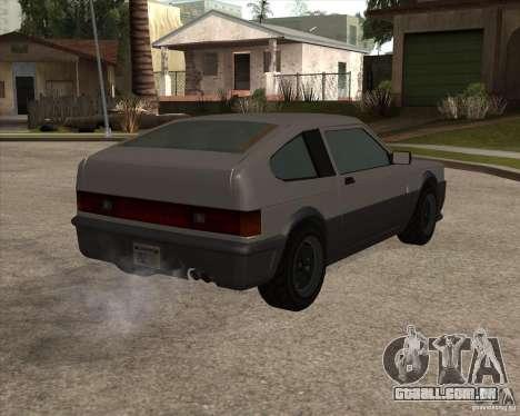 Blistac melhorada para GTA San Andreas vista direita