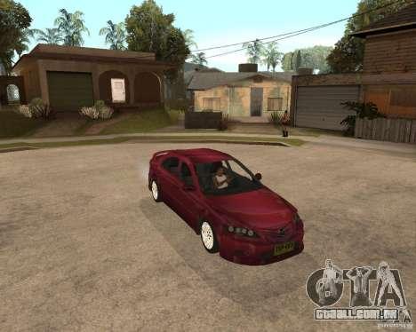 Mazda 6 Sport para GTA San Andreas traseira esquerda vista
