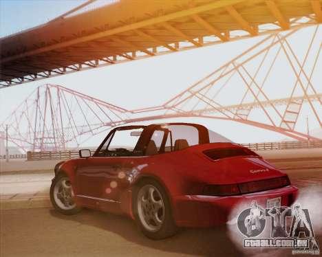 Porsche 911 Carrera 4 Targa (964) 1989 para GTA San Andreas vista traseira
