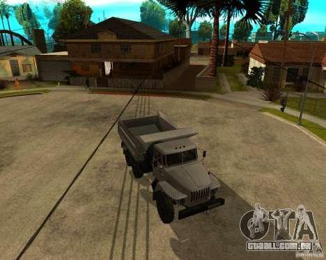 Caminhão de descarga 55571 Ural para GTA San Andreas esquerda vista