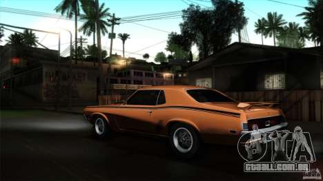 Mercury Cougar Eliminator 1970 para GTA San Andreas esquerda vista