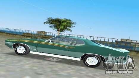 Pontiac GTO The Judge 1969 para GTA Vice City vista interior